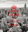 KEEP CALM AND LOVE NYC - Personalised Poster A4 size