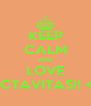 KEEP CALM AND LOVE OCTAVITAS!! <3 - Personalised Poster A4 size