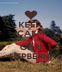 KEEP  CALM AND LOVE ODRI HEPBERNI - Personalised Poster A4 size