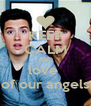 KEEP CALM AND love  of our angels - Personalised Poster A4 size