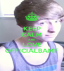 KEEP CALM AND LOVE OFFICIALBAMF - Personalised Poster A4 size
