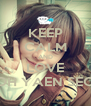 KEEP CALM AND LOVE OH YAEN SEO - Personalised Poster A4 size