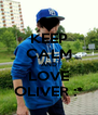 KEEP CALM AND LOVE OLIVER :* - Personalised Poster A4 size
