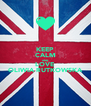 KEEP CALM AND LOVE OLIWIA RUTKOWSKA - Personalised Poster A4 size