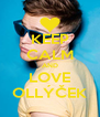 KEEP CALM AND LOVE OLLÝČEK - Personalised Poster A4 size