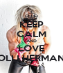 KEEP CALM AND LOVE OLLI HERMAN - Personalised Poster A4 size