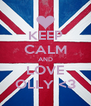 KEEP CALM AND LOVE OLLY <3 - Personalised Poster A4 size
