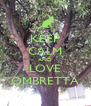 KEEP CALM AND LOVE OMBRETTA - Personalised Poster A4 size