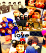 KEEP CALM AND love  One d  - Personalised Poster A4 size