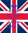 KEEP CALM AND LOve One D. - Personalised Poster A4 size