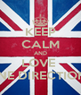 KEEP CALM AND LOVE  ONE DIRECTION♥ - Personalised Poster A4 size
