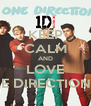 KEEP CALM AND LOVE ONE DIRECTION <3 - Personalised Poster A4 size