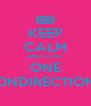 KEEP CALM AND LOVE ONE ONDIRECTION - Personalised Poster A4 size