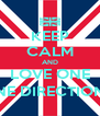 KEEP CALM AND LOVE ONE ONE DIRECTION (: - Personalised Poster A4 size