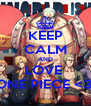KEEP CALM AND LOVE  ONE PIECE <3  - Personalised Poster A4 size
