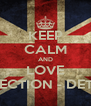 KEEP CALM AND LOVE ONEDIRECTION - DETECTION - Personalised Poster A4 size