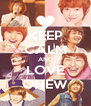 KEEP CALM AND LOVE ONEW - Personalised Poster A4 size