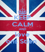 KEEP CALM AND love ons Stien  - Personalised Poster A4 size