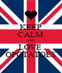 KEEP CALM AND LOVE  OPOTATOES - Personalised Poster A4 size