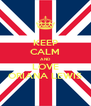 KEEP CALM AND LOVE ORIANA LEWIS - Personalised Poster A4 size