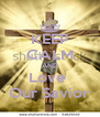 KEEP CALM AND Love  Our Savior - Personalised Poster A4 size