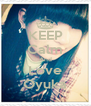 KEEP Calm And Love Oyuka - Personalised Poster A4 size
