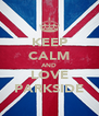 KEEP CALM AND LOVE PARKSIDE - Personalised Poster A4 size