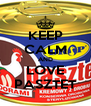 KEEP CALM AND LOVE PASZTET - Personalised Poster A4 size