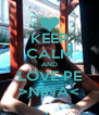 KEEP CALM AND LOVE PE >NINA< - Personalised Poster A4 size