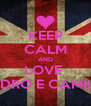KEEP CALM AND LOVE  PEDRO E CAMILA - Personalised Poster A4 size