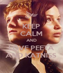 KEEP CALM AND LOVE PEETA AND KATNISS - Personalised Poster A4 size
