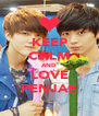 KEEP CALM AND LOVE PENJAE - Personalised Poster A4 size