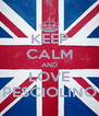 KEEP CALM AND LOVE PESCIOLINO - Personalised Poster A4 size