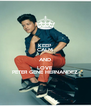 KEEP CALM AND LOVE PETER GENE HERNANDEZ - Personalised Poster A4 size