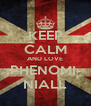 KEEP CALM AND LOVE PHENOMI- NIALL - Personalised Poster A4 size