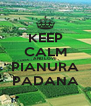 KEEP CALM AND LOVE PIANURA PADANA - Personalised Poster A4 size