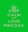KEEP CALM AND LOVE PINCZAK - Personalised Poster A4 size