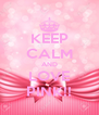 KEEP CALM AND LOVE PINK!! - Personalised Poster A4 size