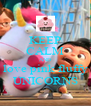 KEEP CALM AND love pink fluffy UNICORNS - Personalised Poster A4 size
