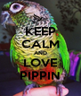 KEEP CALM AND LOVE PIPPIN - Personalised Poster A4 size
