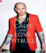 KEEP CALM AND LOVE PITBULL - Personalised Poster A4 size