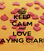 KEEP CALM AND LOVE PLAYING C!ARDS - Personalised Poster A4 size