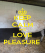 KEEP CALM AND LOVE PLEASURE  - Personalised Poster A4 size