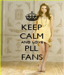KEEP CALM AND LOVE PLL FANS - Personalised Poster A4 size