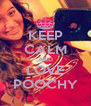 KEEP CALM AND LOVE POOCHY - Personalised Poster A4 size