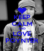 KEEP CALM AND LOVE POYNTER - Personalised Poster A4 size