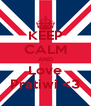 KEEP CALM AND Love Pratiwi <3 - Personalised Poster A4 size