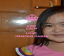 KEEP CALM AND LOVE PRINCESS HASNA - Personalised Poster A4 size