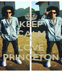 KEEP CALM AND LOVE PRINCETON - Personalised Poster A4 size