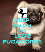 KEEP CALM AND LOVE PUGACORNS - Personalised Poster A4 size